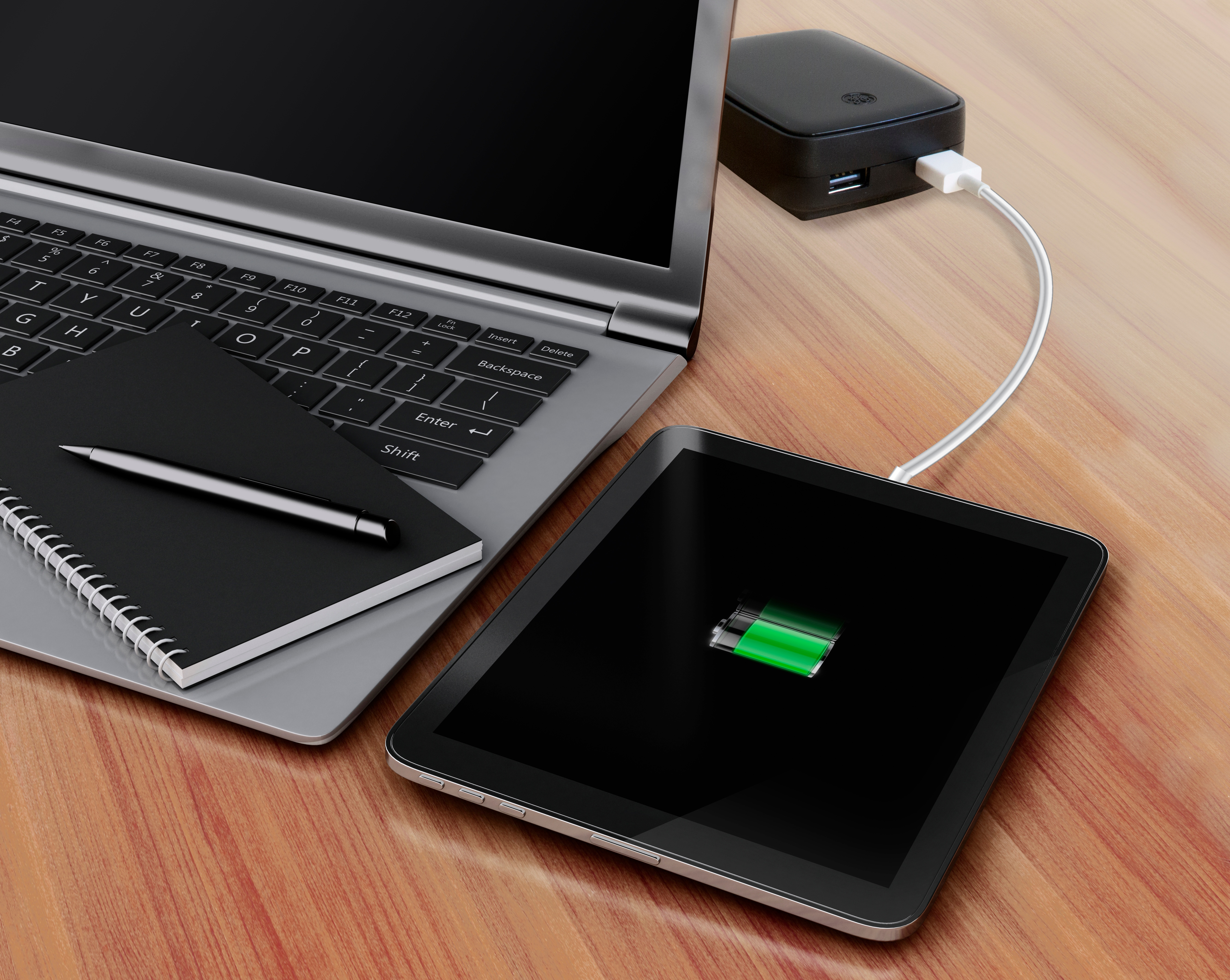 charge multiple devices at your desk with a USB tabletop charging station
