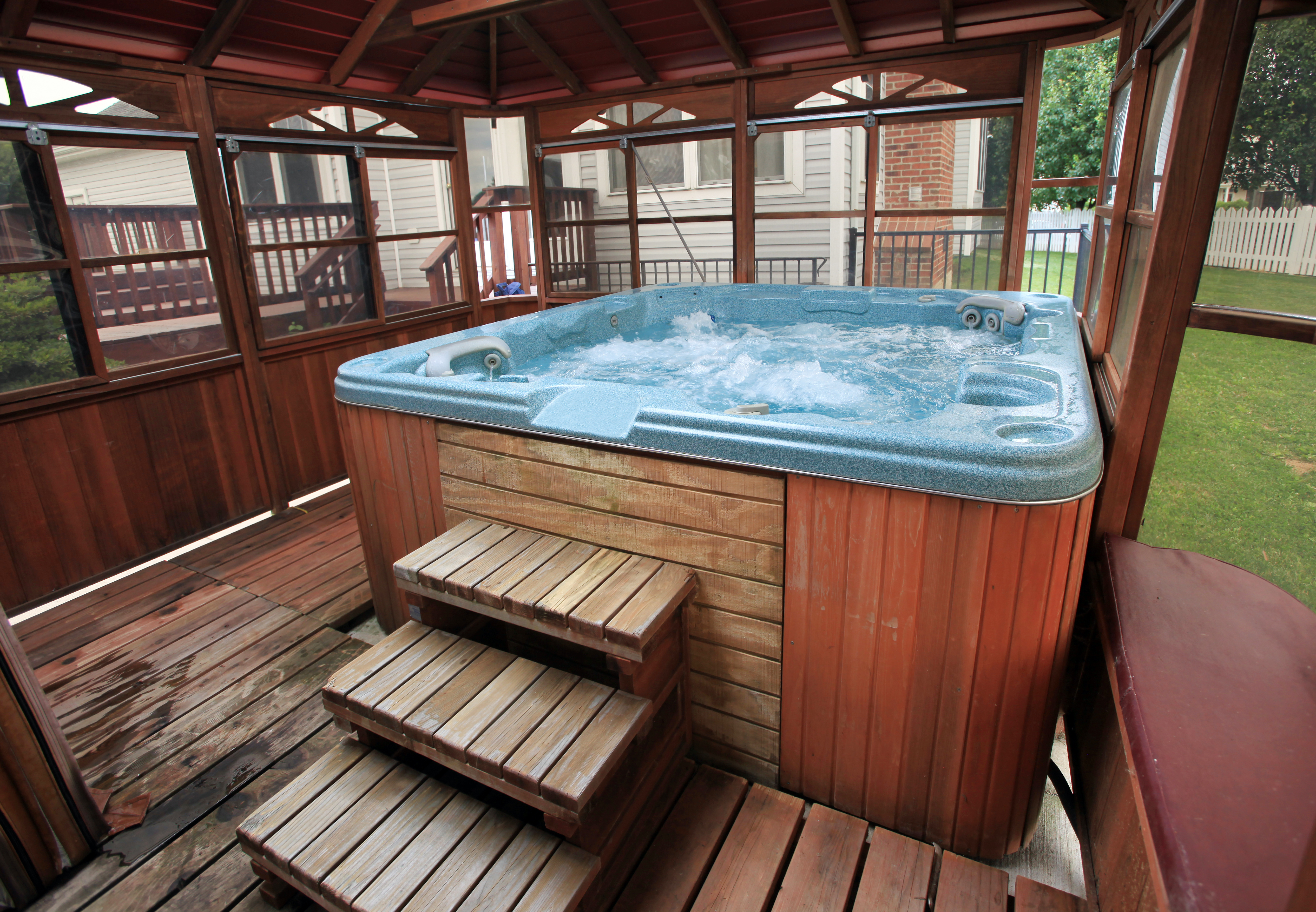 Turn off the filter or heater on your pool or spa overnight.