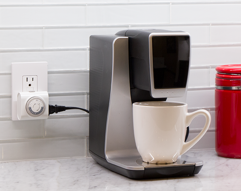 Turn on your coffeemaker every morning with digital timers by Jasco