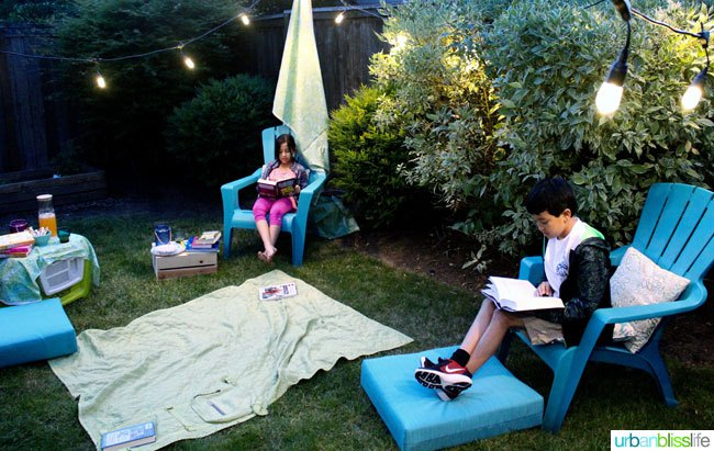 Create a backyard retreat with Enbrighten Cafe String Lights