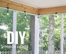 DIY Porch Lights with Enbrighten Cafe String Lights