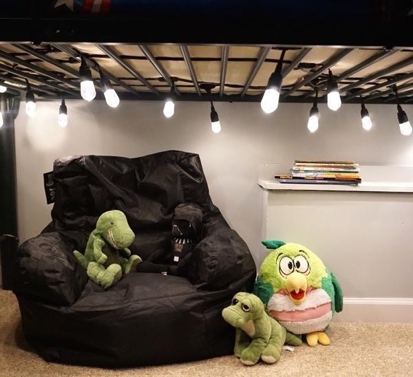 DIY Cozy Reading Nook with Enbrighten LED Cafe Lights