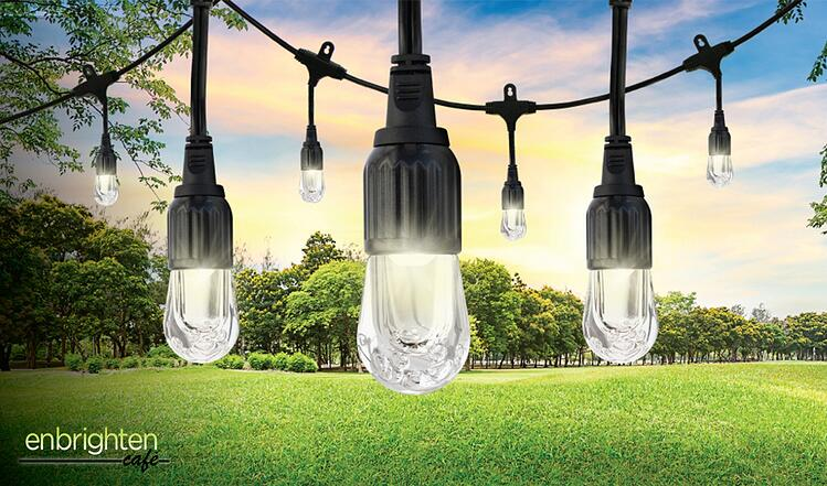 Enbrighten Cafe String Lights. LED Lights for Indoors and Out.