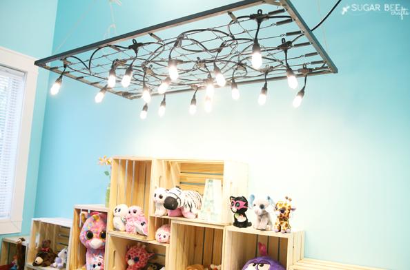 DIY Chandelier with Enbrighten LED Cafe Lights