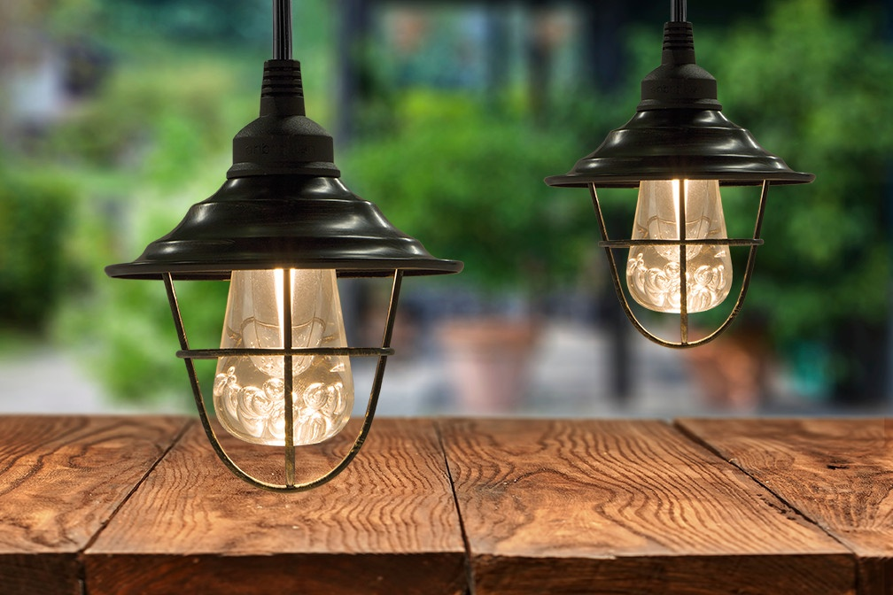 How can I accessorize my outdoor string lights?
