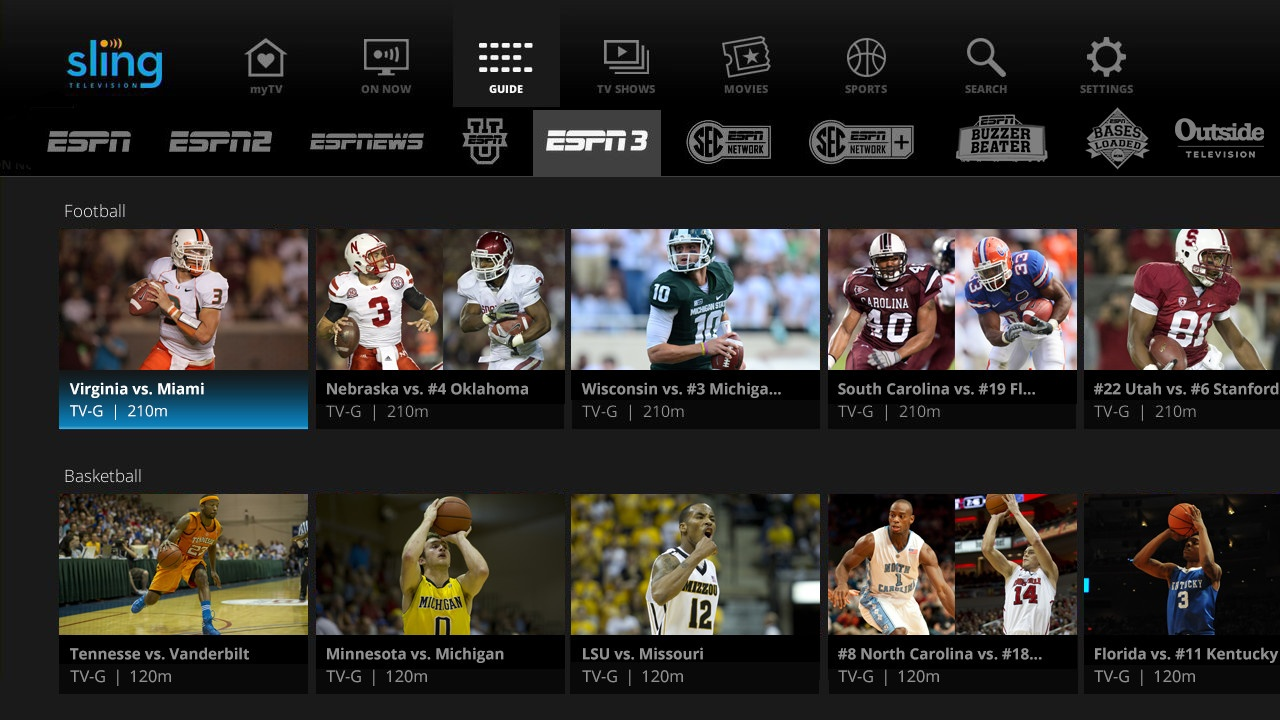 Cut cable with sling tv to watch all your favorite sports teams