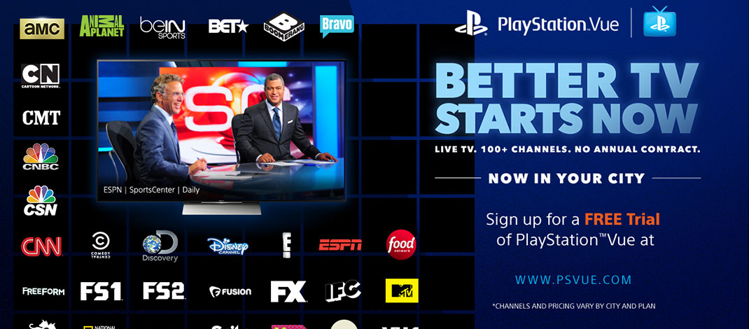 Playstation Vue is another great streaming alternative for sports fans