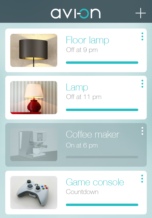 using the avi-on labs app you can control lights and devices