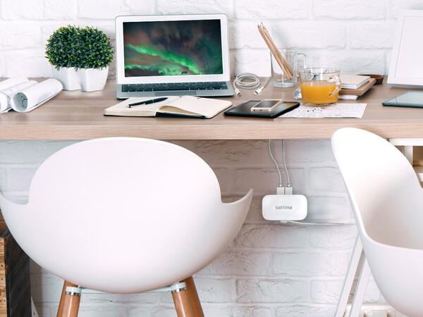 Use a Philips USB Charging Station to organize your cords and charge your devices at your desk.