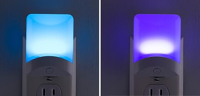 GE Color Changing Night Light transitions and fades into new colors