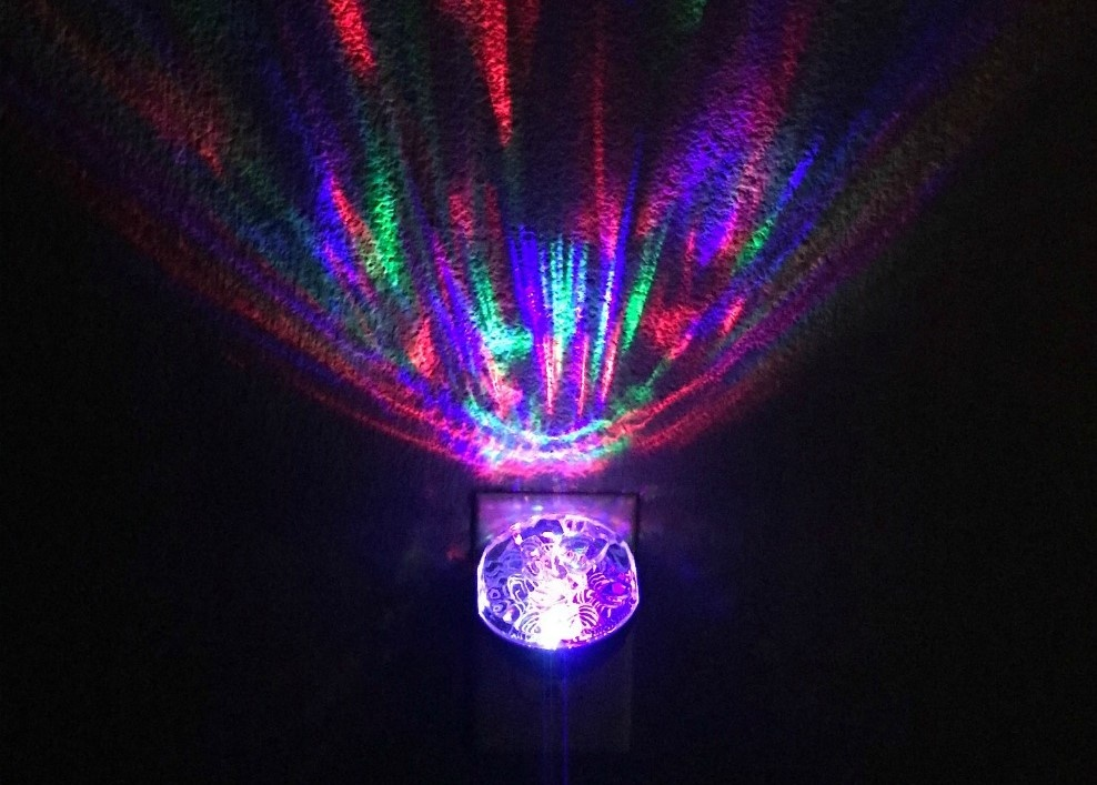 Motion Projectable Night Lights project colorful moving scenes on the ceiling
