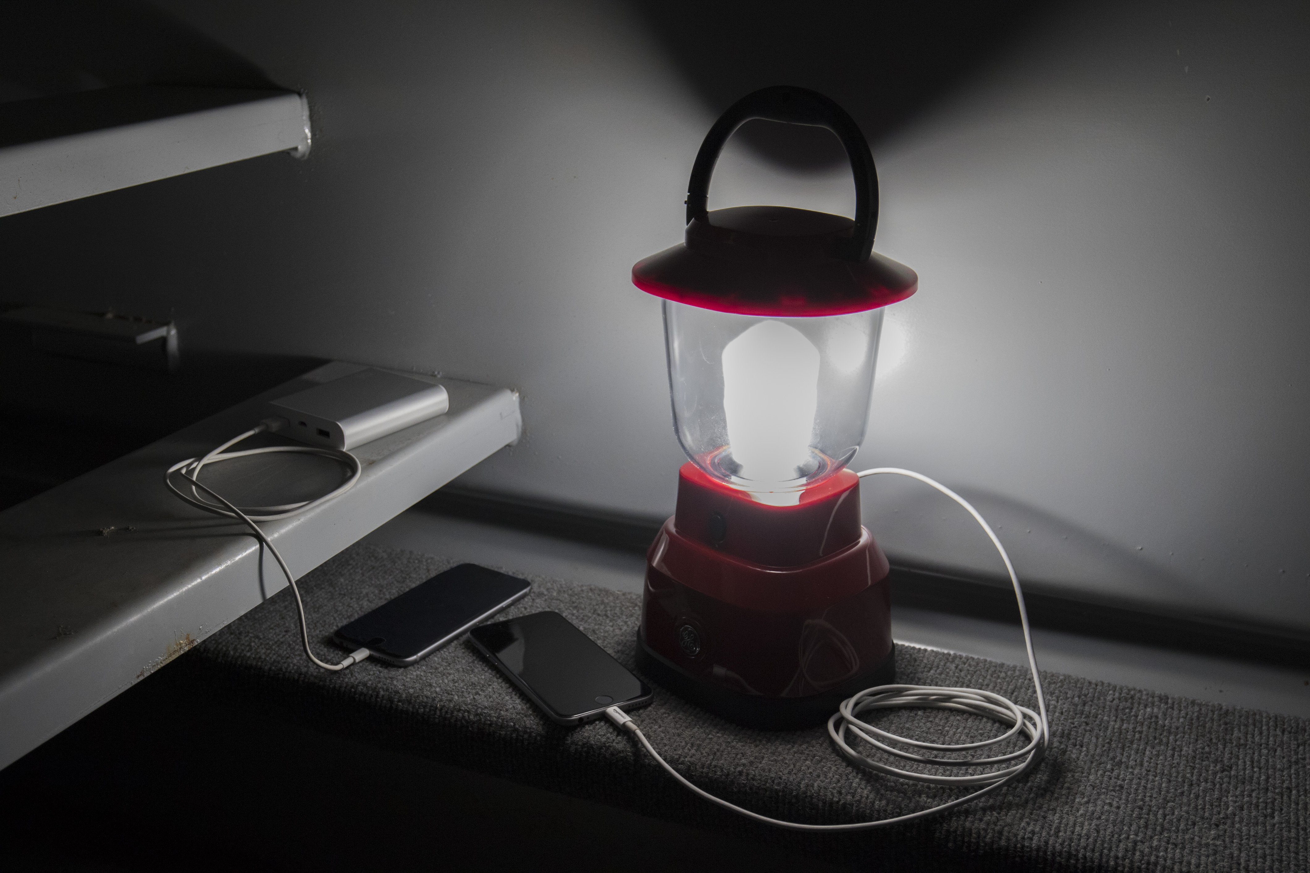 Pick up an EcoSurvivor LED lantern that does double duty with a built-in USB charging port.