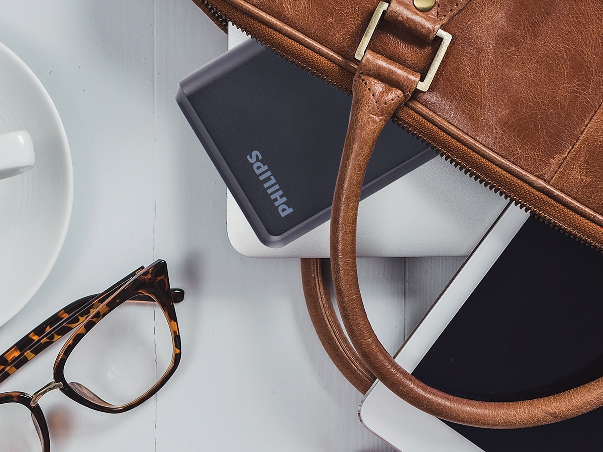 Bring a Philips USB Battery Pack for on-the-go charging