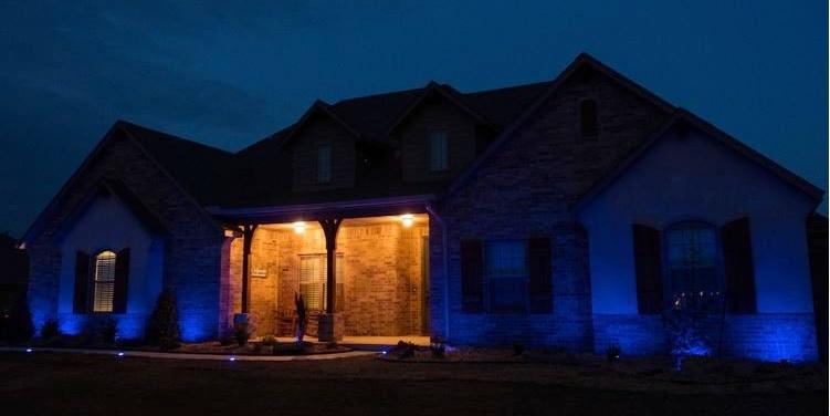 Exterior Home Lighting with Enbrighten Landscape Lights.