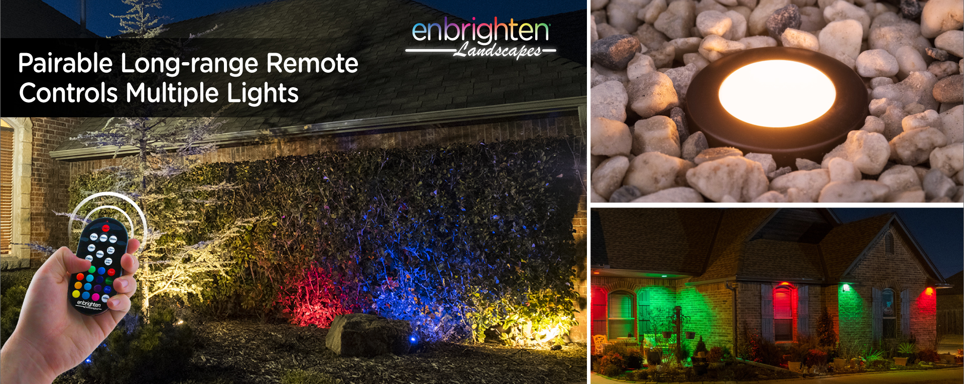 Meet Enbrighten Landscape Lights. Color Changes Everything