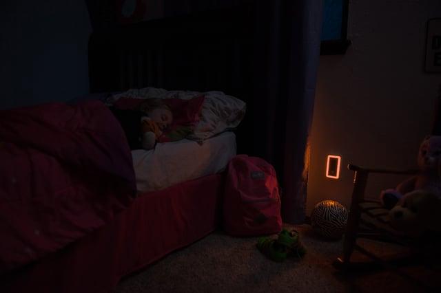 SleepLite Night Light emits warm amber light to support better sleep
