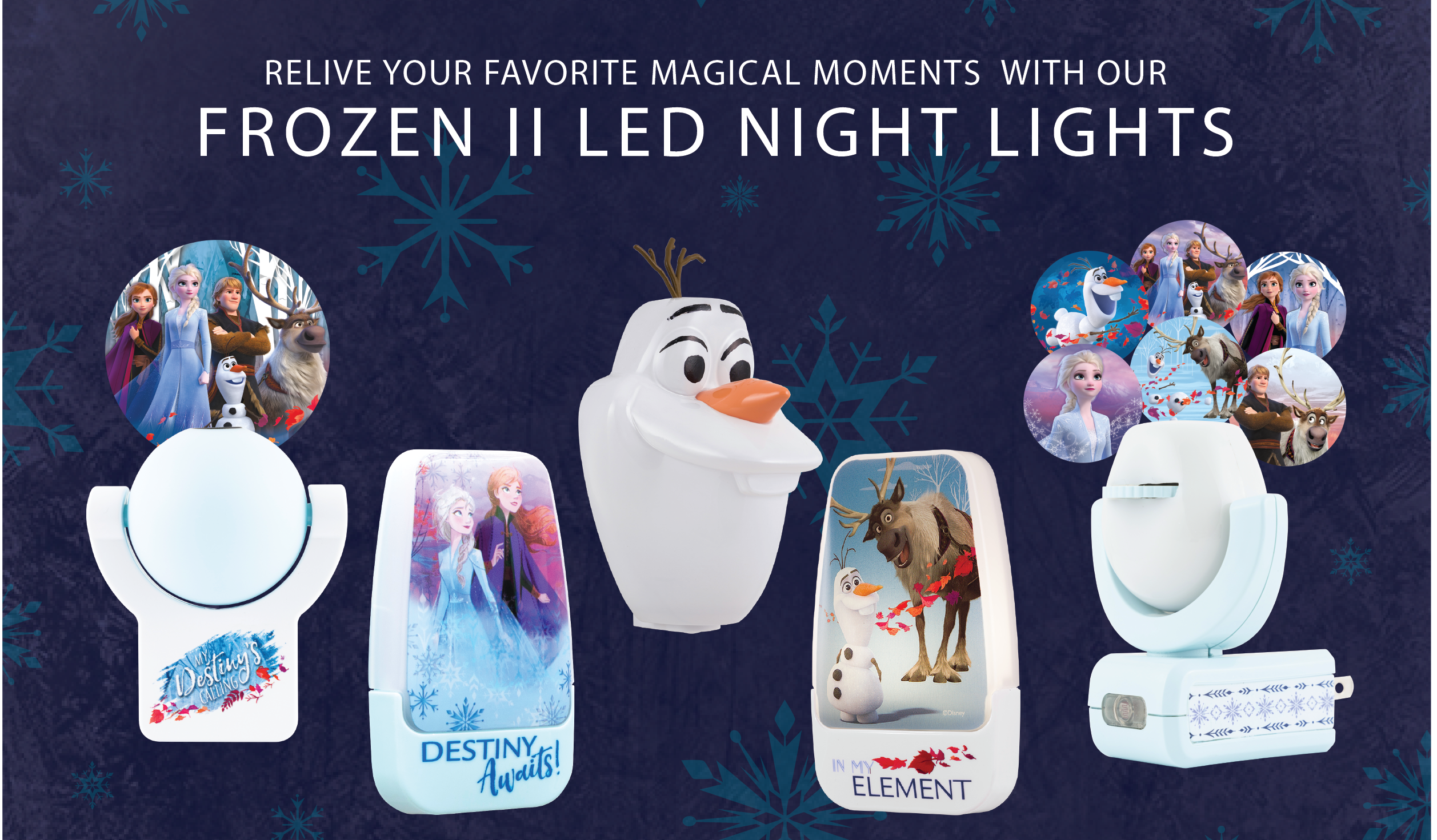 Introducing Our New Frozen 2 Night Light Lineup
